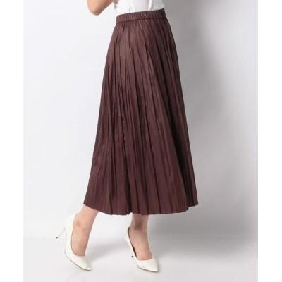 Leilian/レリアン ギャザープリーツスカート ブラウン系7 7