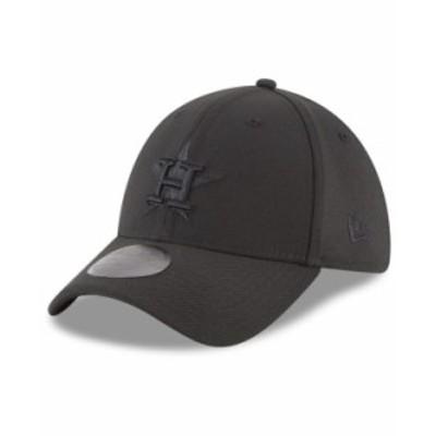 ニューエラ メンズ 帽子 アクセサリー Houston Astros Blackout 39THIRTY Cap Black