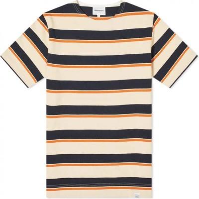 ノースプロジェクト Norse Projects メンズ Tシャツ トップス godtfred classic compact tee Golden Orange