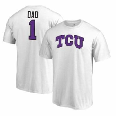 Fanatics Branded ファナティクス ブランド スポーツ用品  Fanatics Branded TCU Horned Frogs White Big & Tall #1 Dad T-Shirt