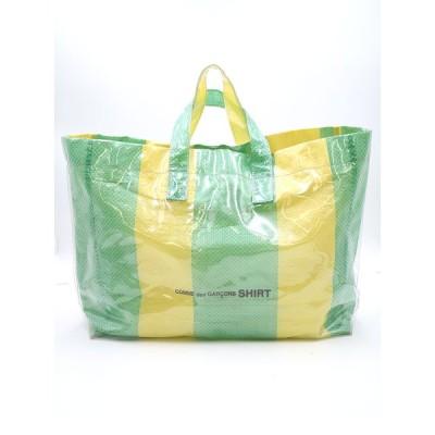 COMME des GARCONS SHIRT コムデギャルソン シャツ PVC TOTE BAG ロゴデザインバッグ イエロー×グリーン