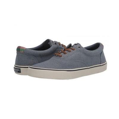 Sperry スペリー メンズ 男性用 シューズ 靴 オックスフォード 紳士靴 通勤靴 Striper II CVO Distressed - Blue