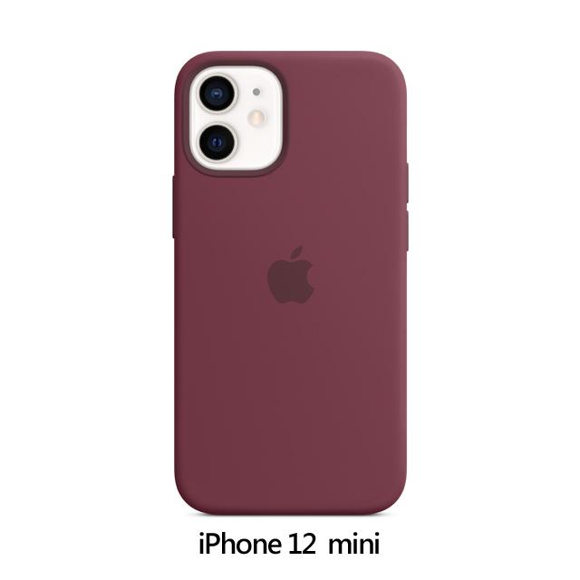 iPhone 12 mini MagSafe 矽膠保護殼 - 梅李色 Plum (MHKQ3FE/A)