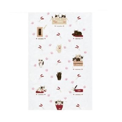 【SALE!9/20まで】定形外郵便対応 布ごよみ てぬぐい 箱猫 タオル 長タオル 手ぬぐい ギフト ねこ ネコ お取り寄せ商品
