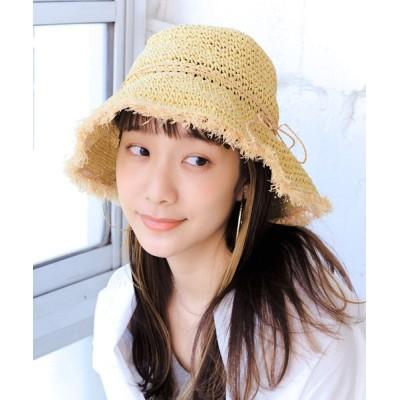 14+(ICHIYON PLUS) / ラフィアフリンジペーパーハット WOMEN 帽子 > ハット