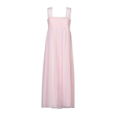 ALEXACHUNG 7分丈ワンピース・ドレス ライトピンク 12 ポリエステル 100% 7分丈ワンピース・ドレス