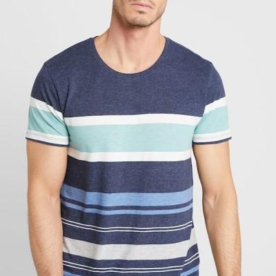 メンズ Tシャツ MEL STRIPE TEE - Print T-shirt - navy