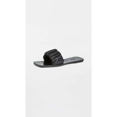 スタウド STAUD レディース サンダル・ミュール シューズ・靴 Nina Ruched Slides Black
