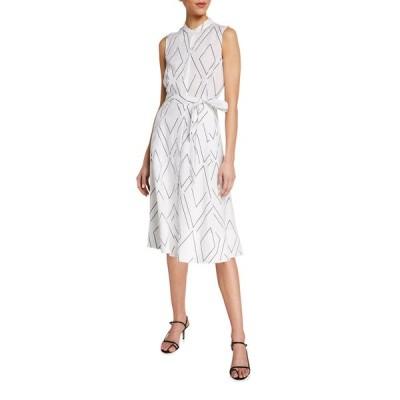エキプモン レディース ワンピース トップス Clevete Geo Print Sleeveless Short Dress