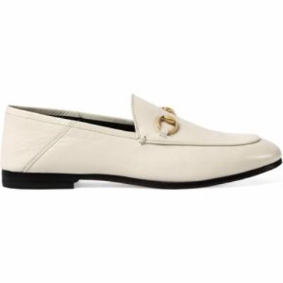 グッチ GUCCI レディース ローファー・オックスフォード シューズ・靴 Brixton Horsebit Convertible Loafer White Leather