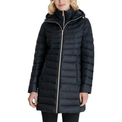 マイケル コース Michael Kors レディース ダウン・中綿ジャケット アウター Hooded Packable Down Puffer Coat Black