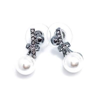 FIX YOU ピアス レディース 真珠 パール 925銀ニードル クリスタル ラインストーン アレルギーを防ぐ 女性のアクセサリー 包装ボ