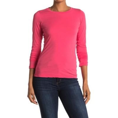 ヴェルヴェットバイグラハムスペンサー レディース Tシャツ トップス Zofina Gauzy Whisper Long Sleeve T-Shirt FIESTA PNK