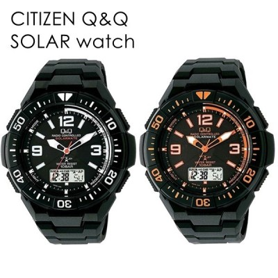 ペアBOX付き ペアウォッチ 電波ソーラー サーフィン ボディーボード パドル 国内正規品 腕時計 メンズ レディース キッズ シチズン Q&Q アナデジ 10気圧防水