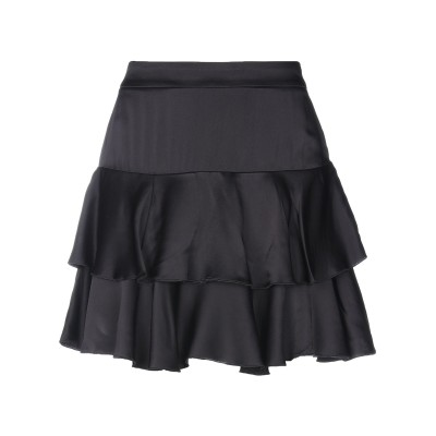 ロイ ロジャース ROŸ ROGER'S ミニスカート ブラック 40 アセテート 58% / レーヨン 42% ミニスカート