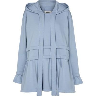 メゾン マルジェラ MM6 Maison Margiela レディース パーカー トップス Cotton-blend hoodie Grey