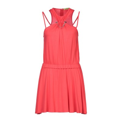 VERSACE ミニワンピース&ドレス レッド 44 レーヨン 96% / ポリウレタン 4% ミニワンピース&ドレス