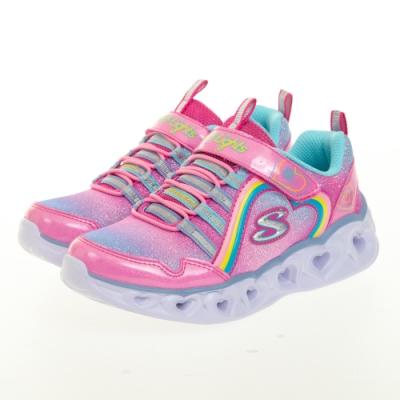 SKECHERS 女童系列 HEART LIGHTS 閃燈鞋 - 302308LPKMT