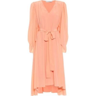 ジバンシー Givenchy レディース パーティードレス ワンピース・ドレス crepe de chine silk midi dress Salmon