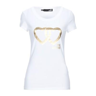 ラブ モスキーノ LOVE MOSCHINO T シャツ ホワイト 42 コットン 94% / ポリウレタン 6% T シャツ