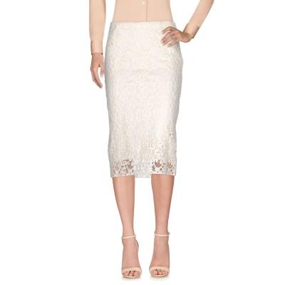 アルファスタジオ ALPHA STUDIO 7分丈スカート ホワイト 38 ポリエステル 100% 7分丈スカート