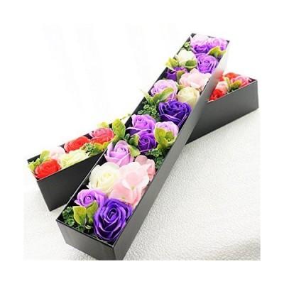 BIO ローズBOXスリム Lサイズ フレグランスソープフラワー ふた付きボックス お祝い 記念日 お見舞い バレンタインデー ホワイトデー