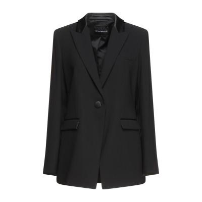 エンポリオ アルマーニ EMPORIO ARMANI テーラードジャケット ブラック 44 ナイロン 100% テーラードジャケット