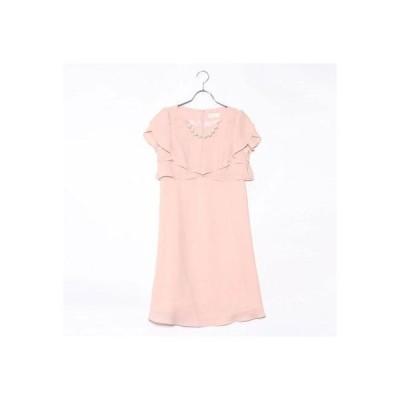 ジュネビビアン Genet Vivien パールアクセ付きドレス (ピンク)