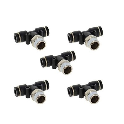 Othmro Push to Connect Fittings T Type Thread Tee Tube Connect 6mm OD x 12.