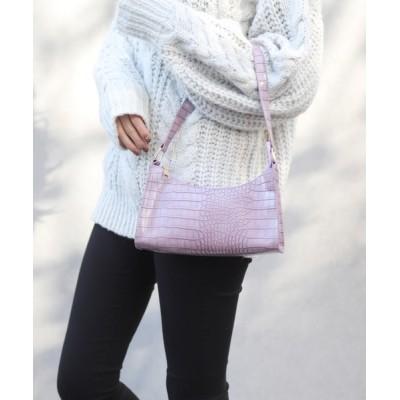 florist / クロコダイルレザーふっくら舟型ハンドバッグ WOMEN バッグ > ハンドバッグ