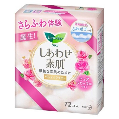 《花王》 ロリエ しあわせ素肌パンティライナー ピュアフローラルの香り 72個入 返品キャンセル不可