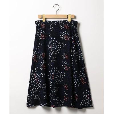 SCAPA/スキャパ シャンパンドットスカート ネイビー 38
