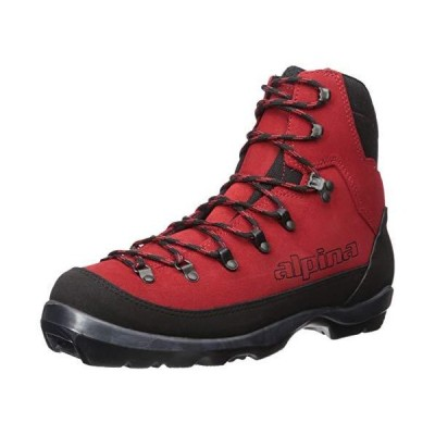 Alpina Sports Wyoming Leather Backcountry Cross Country Nordic Ski Boots, Red/Black, Euro 37 並行輸入品