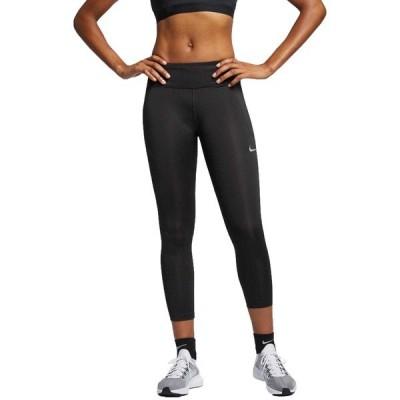 ナイキ カジュアルパンツ ボトムス レディース Nike Women's Run Fast Cropped Legging Black