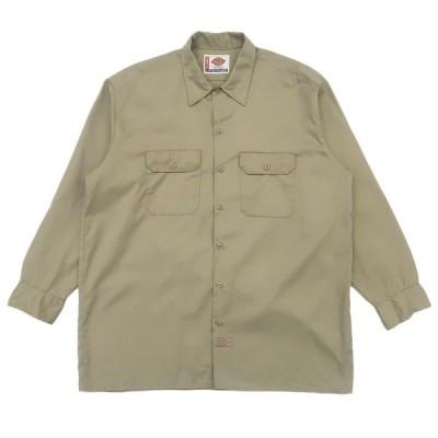 ディッキーズ  ワークシャツ  ベージュ  サイズ表記:XL