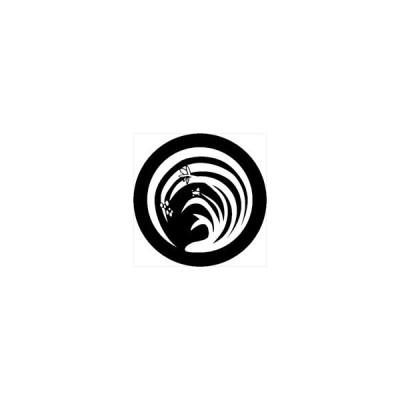 家紋シール 水仙紋 直径4cm 丸型 白紋 4枚セット KS44M-3661W