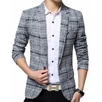 ジャケット メンズ スーツ テーラードジャケット ビジネス カジュアル 紳士 スリム おおきいサイズ