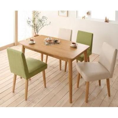 天然木タモ無垢材 カバーリングダイニング unica ユニカ 5点セット(テーブル+チェア4脚) W115