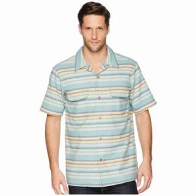 ペンドルトン 半袖シャツ Short Sleeve Striped Board Shirt Aqua Horizon Stripe