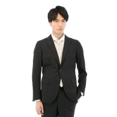 トラベストストレッチウォッシャブル黒セットアップジャケット