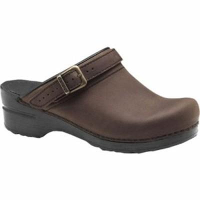 ダンスコ クロッグ Ingrid Slingback Antique Brown Oiled Leather