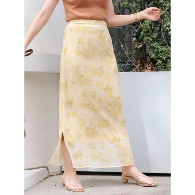 【公式】dazzlin(ダズリン)タイダイ風フラワーストレートスカート