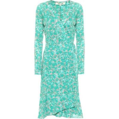 ダイアン フォン ファステンバーグ Diane von Furstenberg レディース ワンピース ラップドレス karina printed silk crepe wrap dress Milo Small Frag