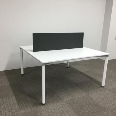グループテーブル ダイニングテーブル ワークソート デスクトップパネル付 SD-WSIA1414PAW コクヨ 中古 DF-841438B