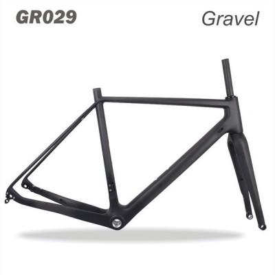 ミラクル バイク スルーアクスル142mm 使用可能 700 * 40C 自転車 グラベルDi2 カーボンシクロクロス フレームディスク BB30 52cm