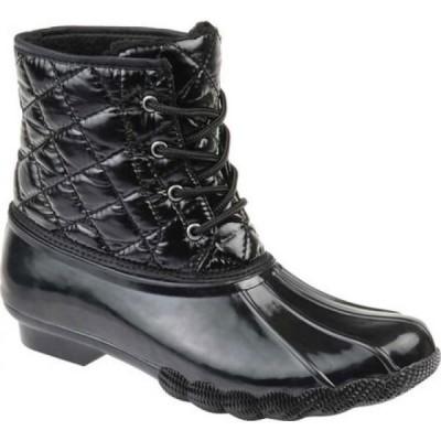 ジュルネ コレクション Journee Collection レディース ブーツ シューズ・靴 Chill Quilted Waterproof Duck Boot Black Quilted Manmade
