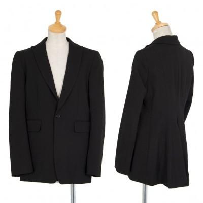 ワイズY's ウールポリストレッチバックシェイプ1Bジャケット 黒2 【レディース】