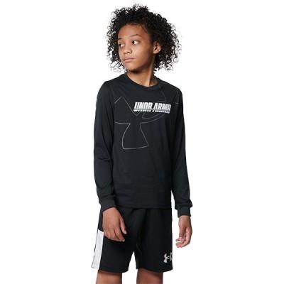 公式 アンダーアーマー UNDER ARMOUR UAテック ロングスリーブ Tシャツ ロゴ バスケットボール キッズ 1368975
