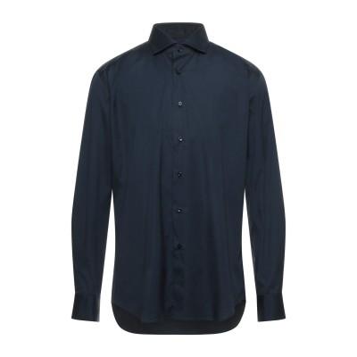 XACUS シャツ ダークブルー 39 コットン 96% / ポリウレタン 4% シャツ