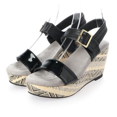 シューズラウンジ shoes lounge ウェッジソール サンダル 80BD40314BLA (ブラック)